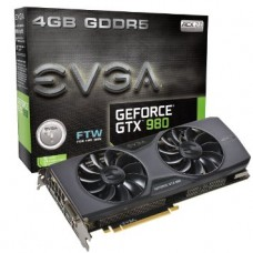 EVGA GTX 980/4GB NVIDIA FTW GRAPHICS CARD