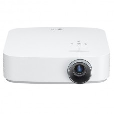 LG Projector Mini Beam 600 Lumens FHD Smart, White