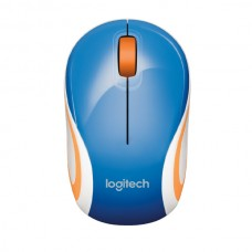 Logitech M187 Mini Wireless Mouse - Blue & White