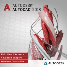 Autodesk AutoCAD 2018 for Windows, Multi User (Network), Annual Subscription with Advanced Support