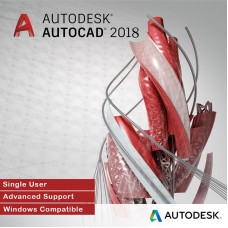 Autodesk AutoCAD 2018 for Windows, Single User, Annual Subscription with Advanced Support