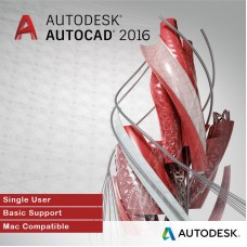 Autodesk AutoCAD 2016 for MAC, Single User, Annual Subscription with Basic Support