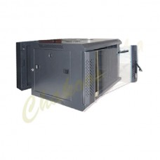 12U Wall Mountable Rack Cabinet 600 x 450 For Network with PDU and Fan
