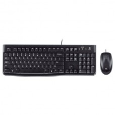 Logitech USB Wired Keyboard with Mouse Combo - Black (MK120)