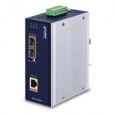 Planet Industrial 2-Port 100/1000X SFP to 1-Port 10/100/1000T 802.3bt PoE++ Media Converter