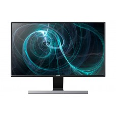 "Samsung 27"" Minimalist LED monitor with a metallic stand"