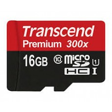 TRANSCEND 16GB MICRO SD CARD 300X U1