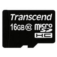 TRANSCEND 16GB MICRO SD CARD  CLASS 10