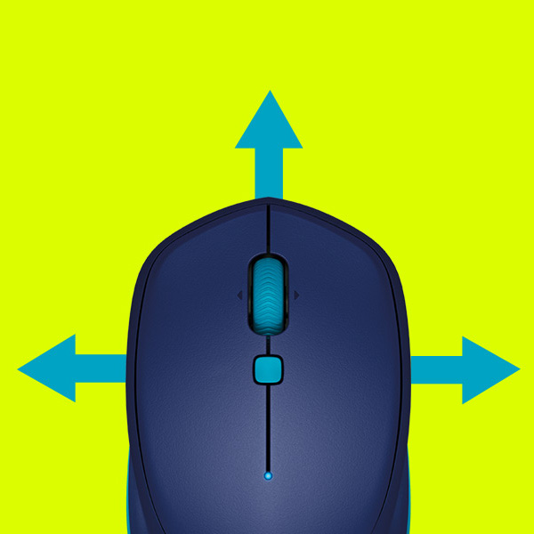 Logitech Mouse M535 Bluetooth Blue