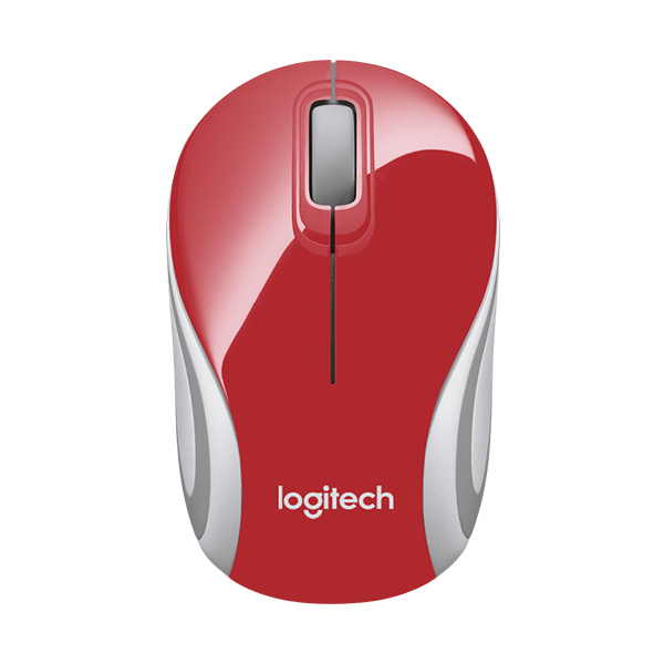 Logitech Mouse Mini Wireless M187 Red/White