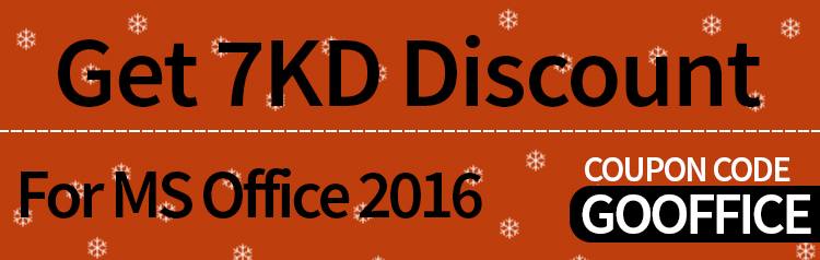 Get 7KD Discount For MS Office 2016 Use Code - GOOFFICE