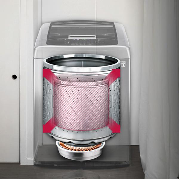 LG 16KG Top Load Washer Dryer-Grey