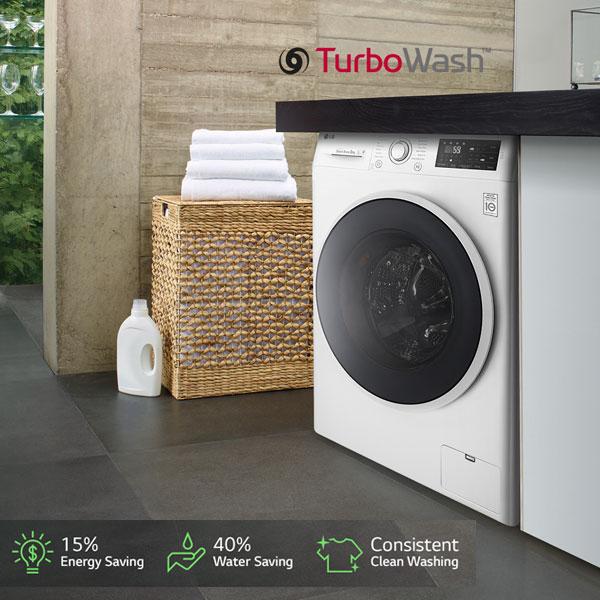 LG 19KG Front Load Washer Dryer