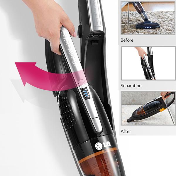 LG 2 in 1 Handstick and Smart inverter motor Cordless Vacuum Cleaner - Green