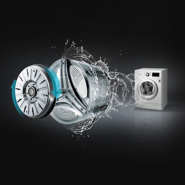 LG 70kg Front Load Washing Machine - silver