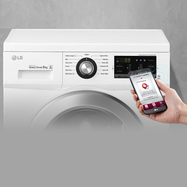 Lg 7kg Front Load Washing Maching - White