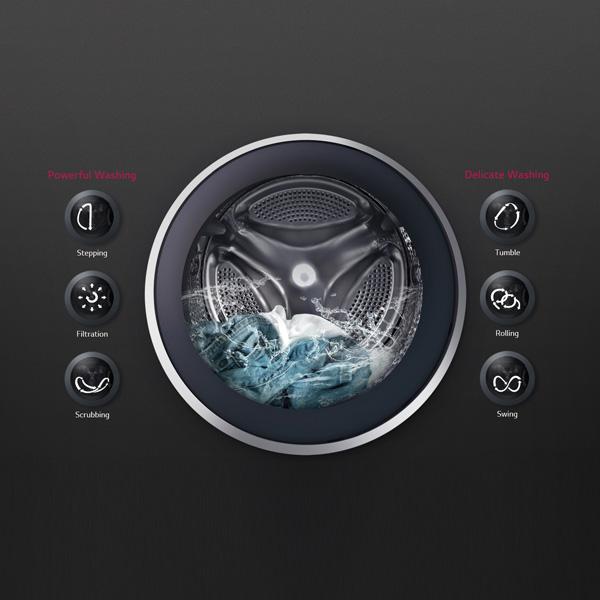 LG 8KG Front Load Washing Machine - Silver
