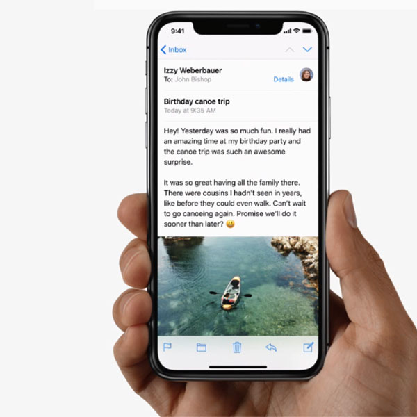 Apple iPhone X - Intuitive Gestures.