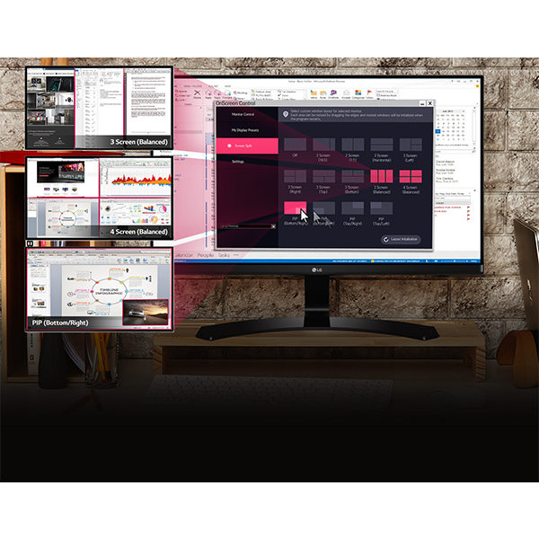 LG 24 Full HD IPS LED Monitor Black - 24MP68VQ-P