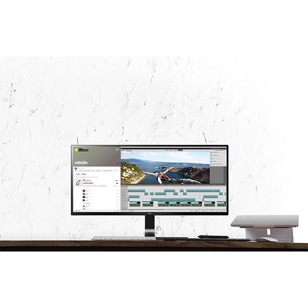 LG 29 Ultrawide IPS LED Monitor Black - 29UM59-P