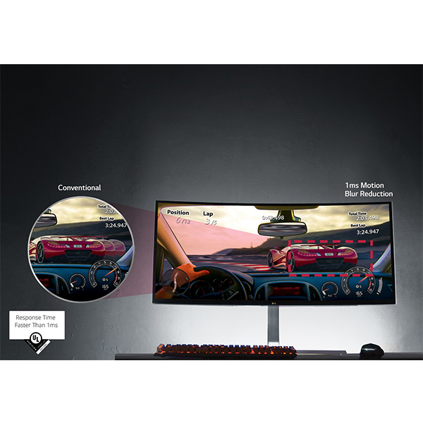 LG 38 Curved 21:9 UltraWide IPS Display Monitor - 38UC99-W