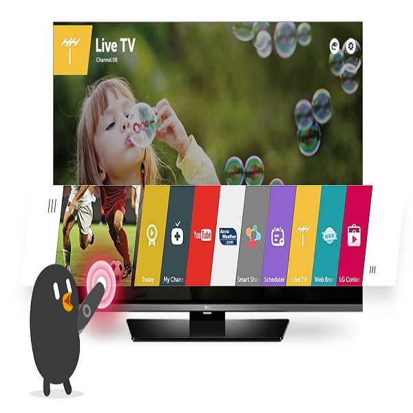 LG 49-inch Smart LED TV with webOS - 49LF590T.AMA