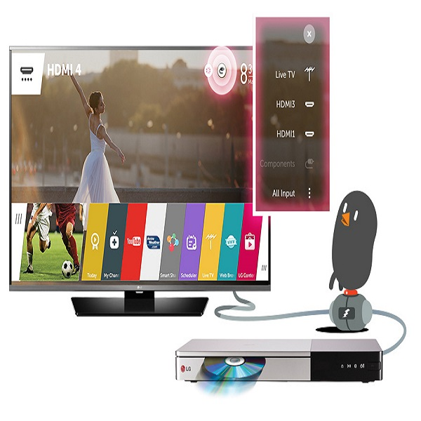 LG 55-inch Smart LED TV With Magic Remote - 55LF630T.AMA