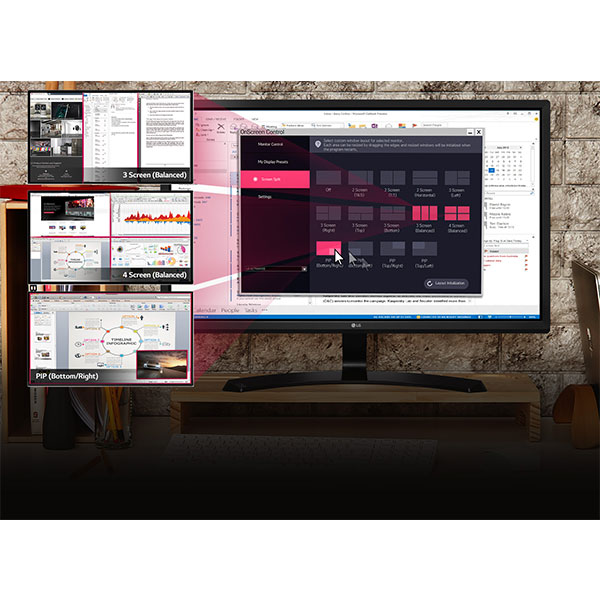LG 22MP58 Customize Your Workspace for Multitasking