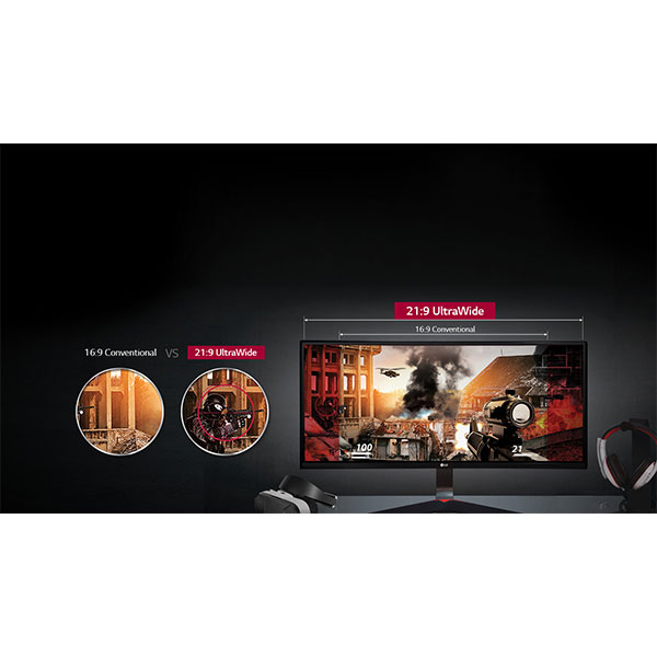 LG 34UC79G Gaming Field-of-View