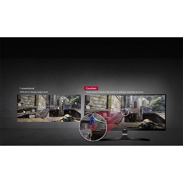 "LG 34UC79G Enhanced striking with ""Crosshair"" functionality"