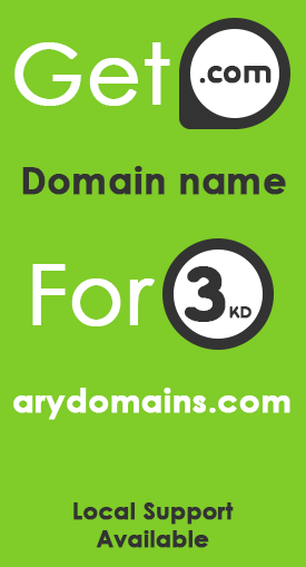 Get .com domain name for 3 KD