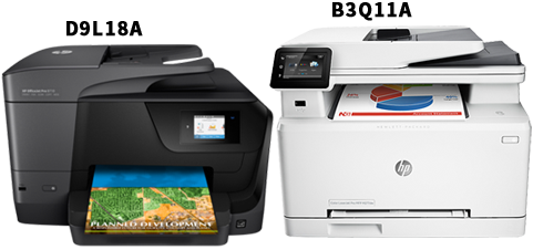 HP Color OfficeJet Pro 8710 Printer - D9L18A and HP Color LaserJet Pro M277dw Printer - B3Q11A in Kuwait from AryCart.com