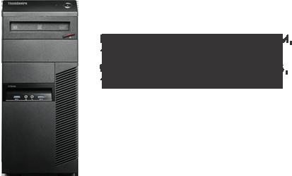 Lenovo M83 Tower Desktop with i5-4590 Processor, 4GB RAM, 1TB HDD, 1 Year Warranty
