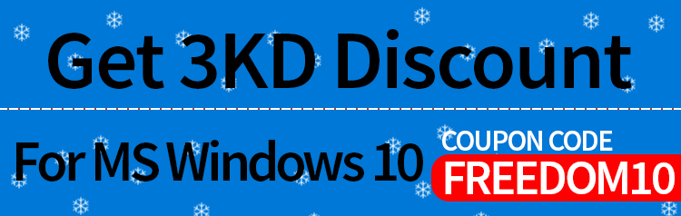 Get 3KD Discount For MS Windows 10 Use Code - FREEDOM10